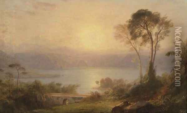 Tropical Landscape 2 Oil Painting - Frederic Edwin Church