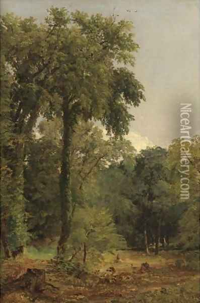 A Stand Of Trees Oil Painting - Jasper Francis Cropsey