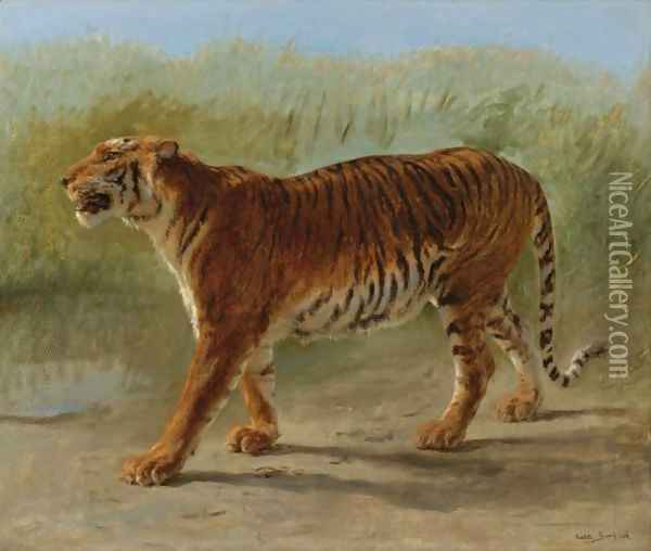 Royal Tiger Marching Oil Painting - Rosa Bonheur