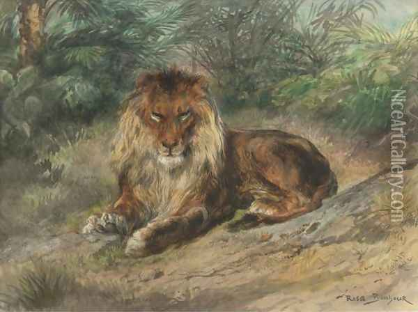 The Old Monarch Oil Painting - Rosa Bonheur