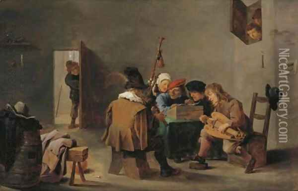 The Boors' Concert Oil Painting - David The Younger Teniers