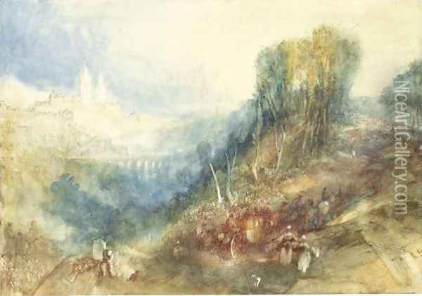 Lausanne From The West Oil Painting - Joseph Mallord William Turner