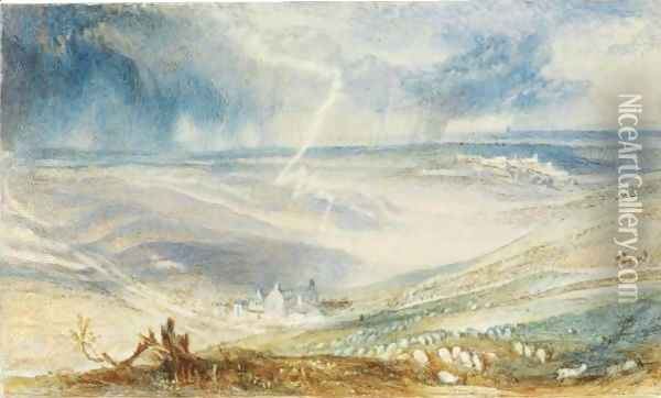 The Field Of Waterloo, From The Picton Tree Oil Painting - Joseph Mallord William Turner