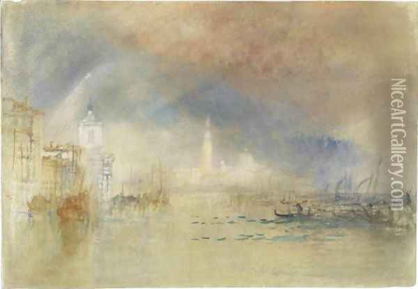 Venice Looking Towards The Dogana And San Giorgio Maggiore, With A Storm Approaching Oil Painting - Joseph Mallord William Turner