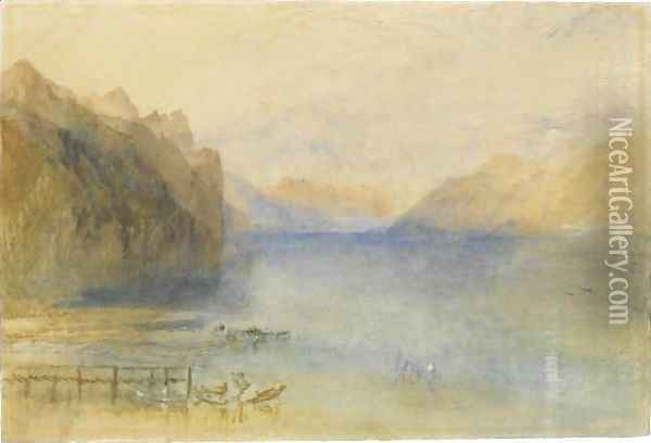 Lake Lucerne Oil Painting - Joseph Mallord William Turner