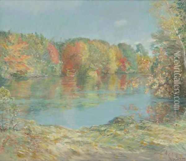 Walden Pond Oil Painting - Frederick Childe Hassam