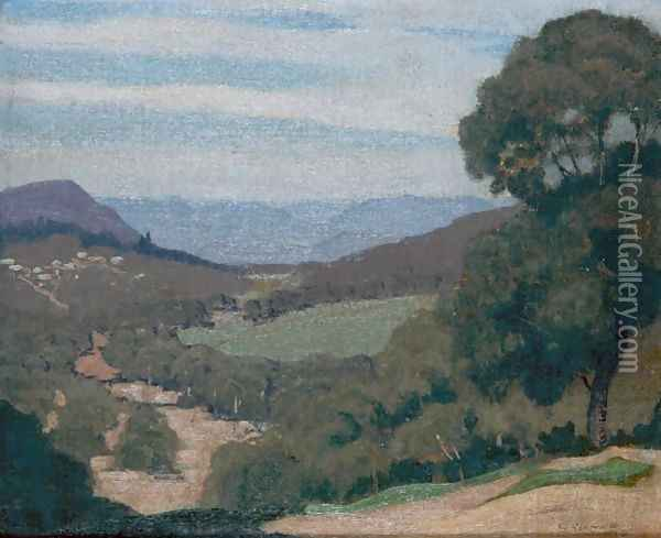 The Vale Oil Painting - Elioth Gruner