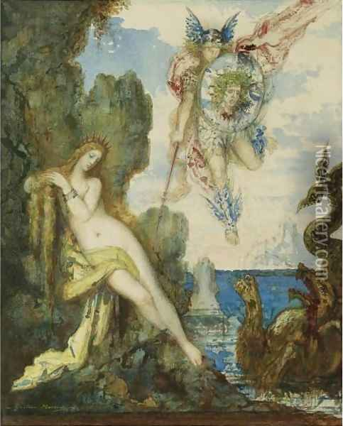 Persee Et Andromede Oil Painting - Gustave Moreau