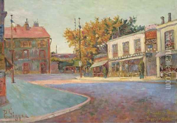 Rue De La Station, Asnieres Oil Painting - Paul Signac