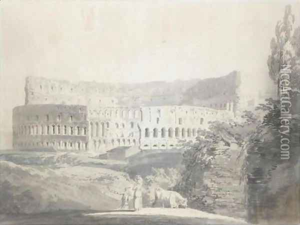 View Of The Colosseum, Rome Oil Painting - Joseph Mallord William Turner