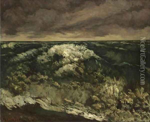 La Vague 6 Oil Painting - Gustave Courbet
