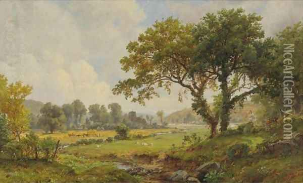 Haying Time Oil Painting - Jasper Francis Cropsey