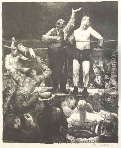 Introductions Oil Painting - George Wesley Bellows