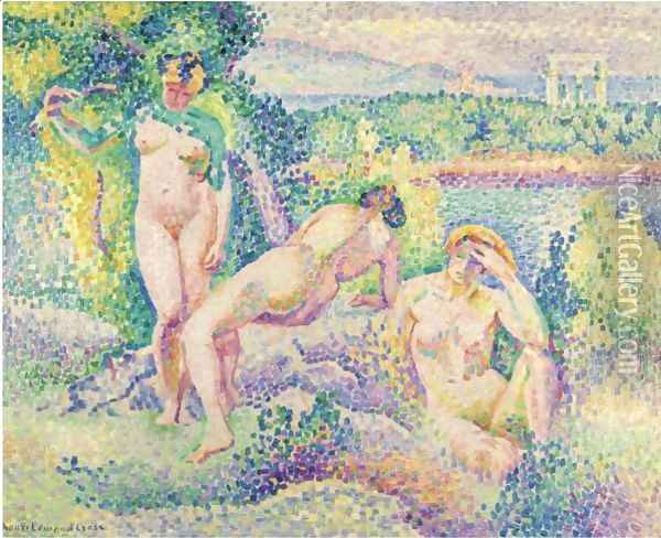 Nymphes Oil Painting - Henri Edmond Cross