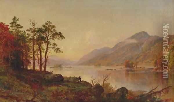 Lake George Oil Painting - Jasper Francis Cropsey