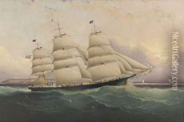 The Clipper Ship Sunrise Oil Painting - James E. Buttersworth