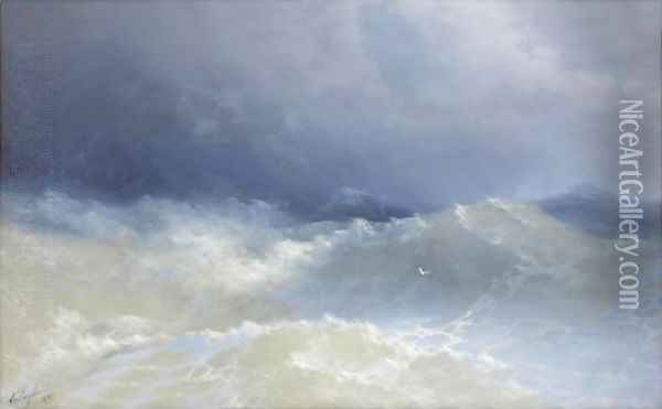 Among The Waves Oil Painting - Ivan Konstantinovich Aivazovsky