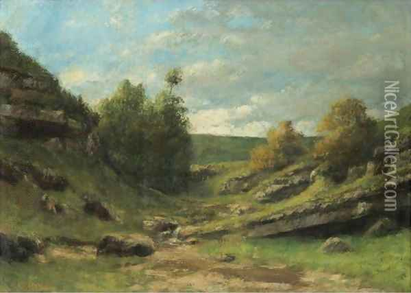 La Vallee Rocheuse 2 Oil Painting - Gustave Courbet