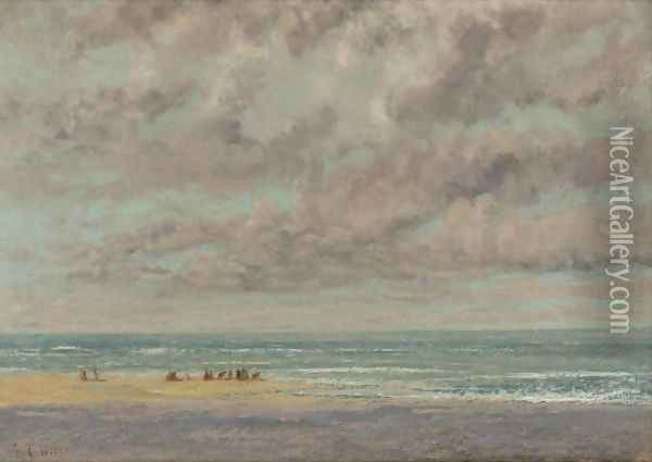 Marine, Les Equilleurs Oil Painting - Gustave Courbet