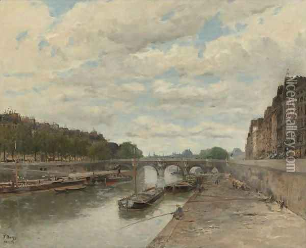 Pont Neuf Oil Painting - Frank Myers Boggs