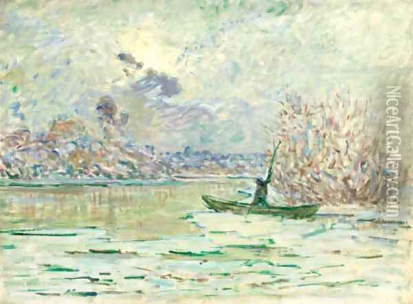 L'Hiver, Pres De Lavacourt Oil Painting - Claude Oscar Monet