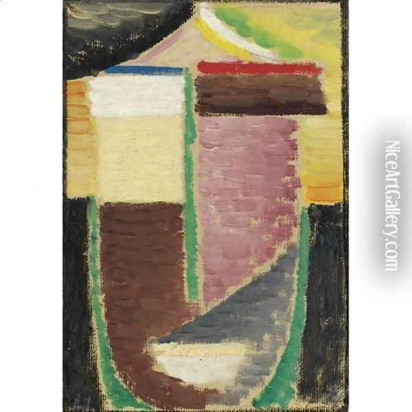 Abstrakter Kopf (Abstract Head) 3 Oil Painting - Alexei Jawlensky