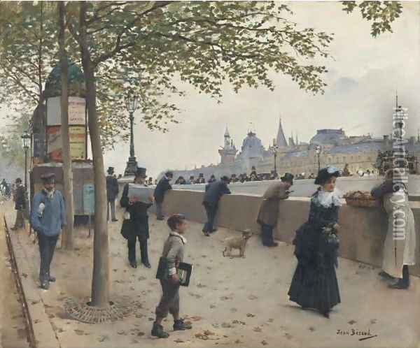 Le Pont Neuf Oil Painting - Jean-Georges Beraud