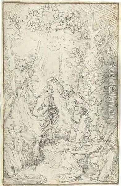 The Baptism Of Christ Oil Painting - Claude Gillot
