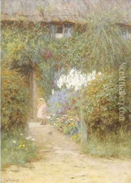 A Cottage At Redlynch Oil Painting - Helen Mary Elizabeth Allingham