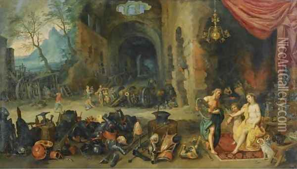 Venus In The Forge Of Vulcan Oil Painting - Jan Brueghel the Younger