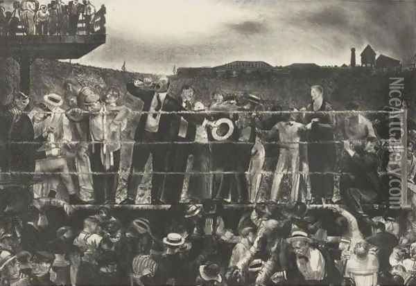 Introducing Georges Carpentier Oil Painting - George Wesley Bellows