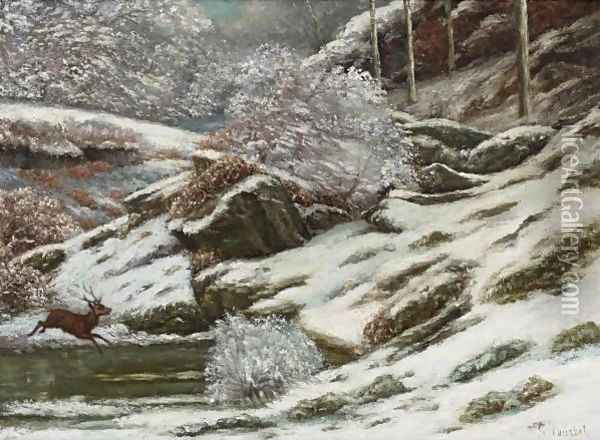 Paysage D'Hiver Oil Painting - Gustave Courbet