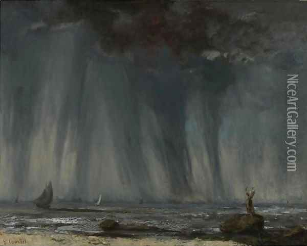 La Trombe Oil Painting - Gustave Courbet
