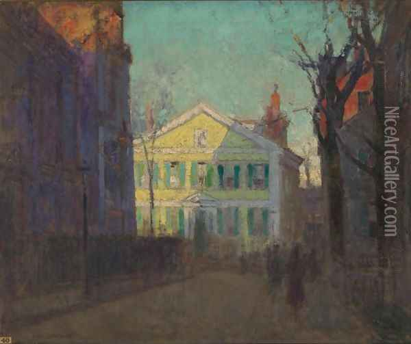 The Street Beyond Oil Painting - Paul Cornoyer