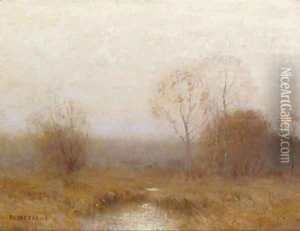Grey November Oil Painting - Bruce Crane