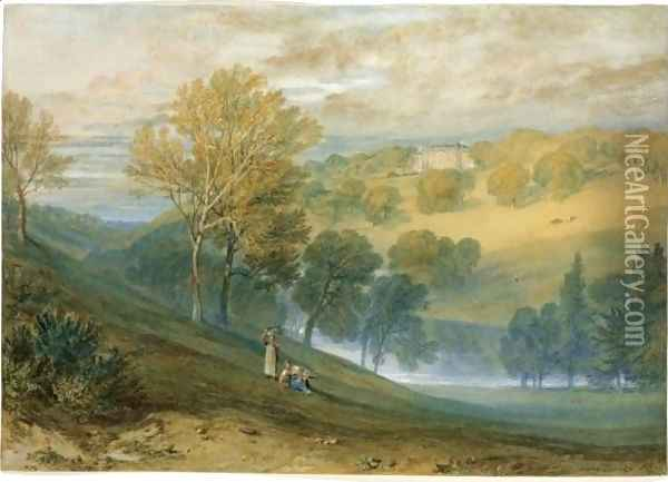 Gledhow Hall, Yorkshire Oil Painting - Joseph Mallord William Turner