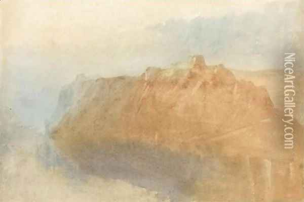 The Fortress Of Ehrenbreitstein From Across The Rhine Oil Painting - Joseph Mallord William Turner