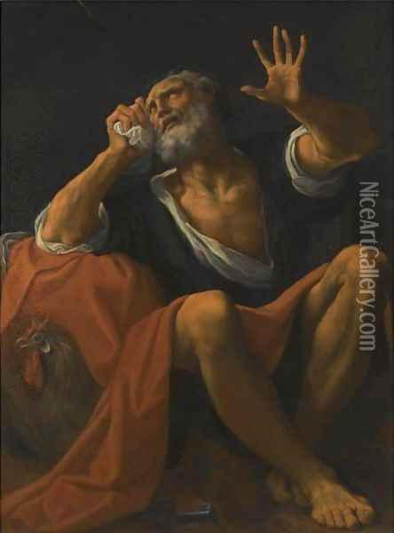The Penitent Saint Peter Oil Painting - Lodovico Carracci