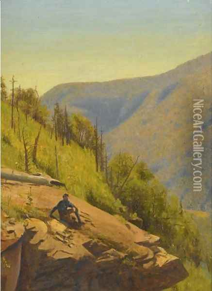 Summer In The Hills Two Paintings Oil Painting - Jervis McEntee