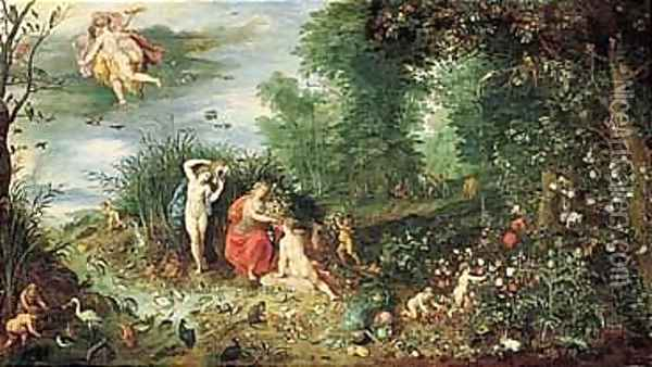 Hendrick Van Balen Oil Painting - Jan Brueghel the Younger