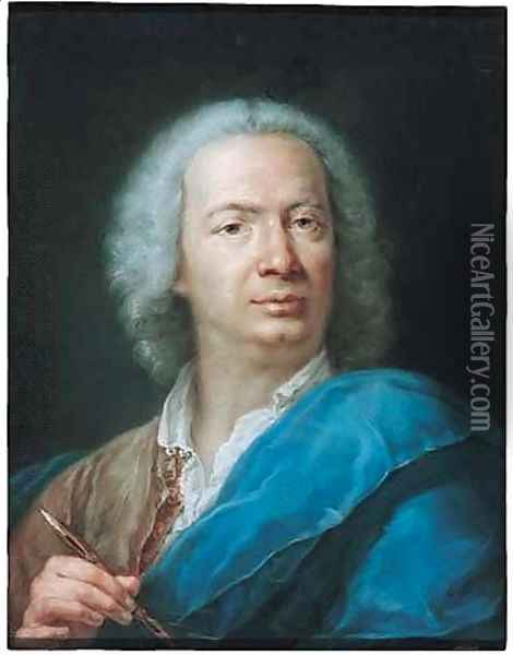 Self-Portrait of a male artist Oil Painting - Rosalba Carriera