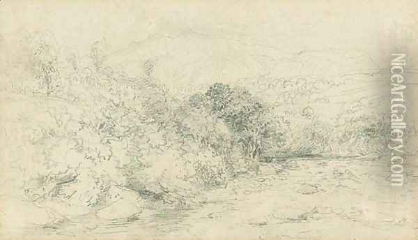 Landscape Drawing Oil Painting - David Cox