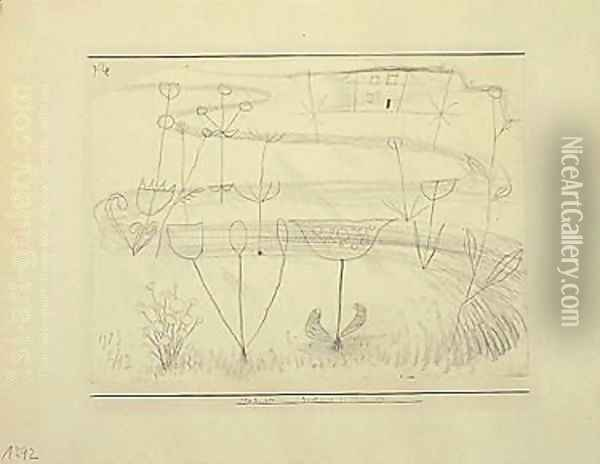 Zeichnung Zu 1923 (Drawing For 1923) Oil Painting - Paul Klee