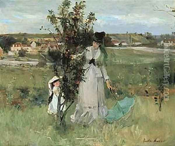Untitled Oil Painting - Berthe Morisot
