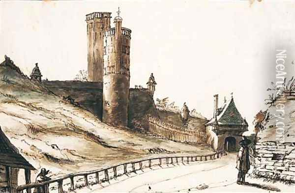 Pen And Brown Ink And Brown And Gray Wash Oil Painting - Lambert Doomer
