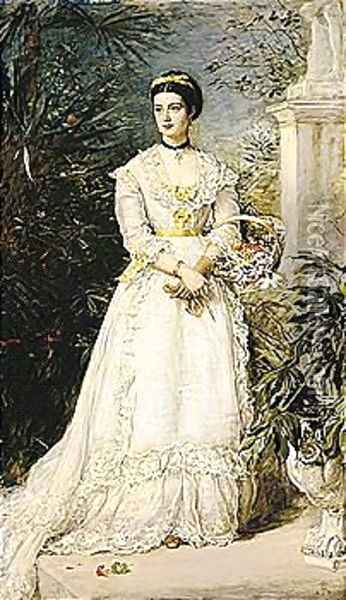 Amy, Marchioness Of Huntly Oil Painting - Sir John Everett Millais