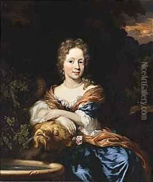 A Portrait Of A Young Lady Oil Painting - Nicolaes Maes