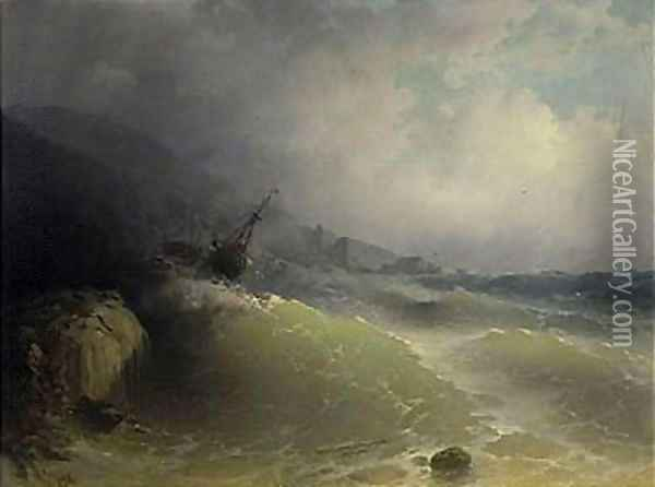 The Shipwreck 7 Oil Painting - Ivan Konstantinovich Aivazovsky