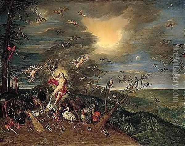An Allegory Of Air Oil Painting - Jan Brueghel the Younger