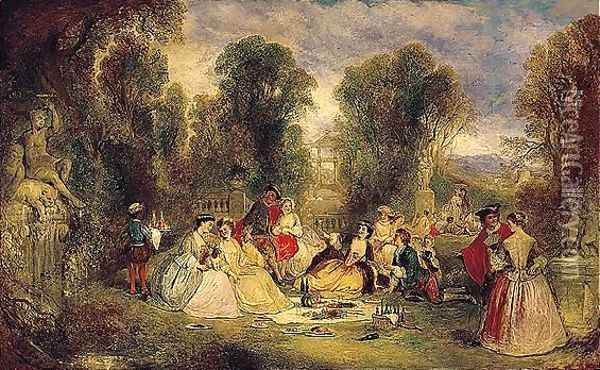 The Garden Party Oil Painting - Henry Andrews